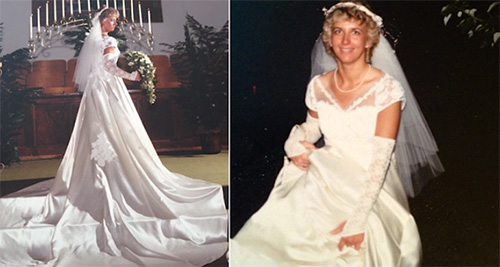 0c7606f32ee How to transform your mom s old wedding dress into all the vogue for ...