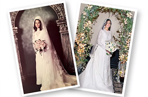 6a7e3cc3478 How to transform your mom s old wedding dress into all the vogue for ...