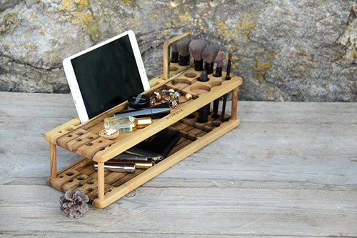 Wooden makeup organizer3